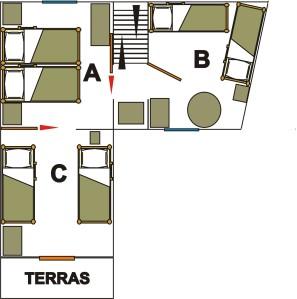plattegrond 1e verdiep