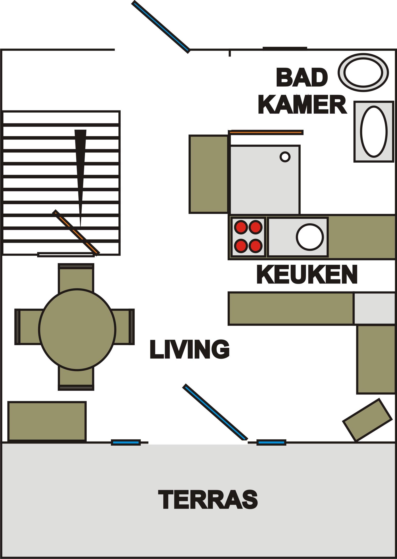 Plattegrond Keuken Horeca : plattegrond gelijkvloers plattegrond 1e verdiep